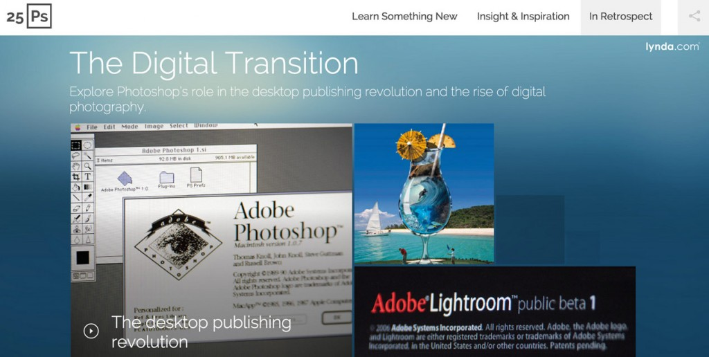 Lynda.com Celebrates 25th Anniversary of Photoshop