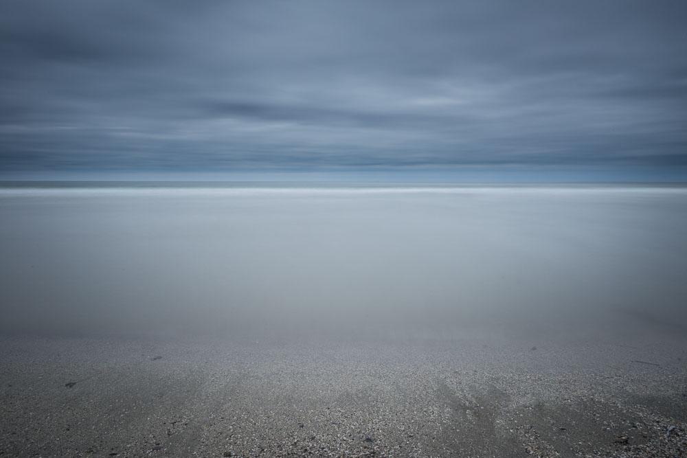 ocean, dawn, gloomy, sky, horizon
