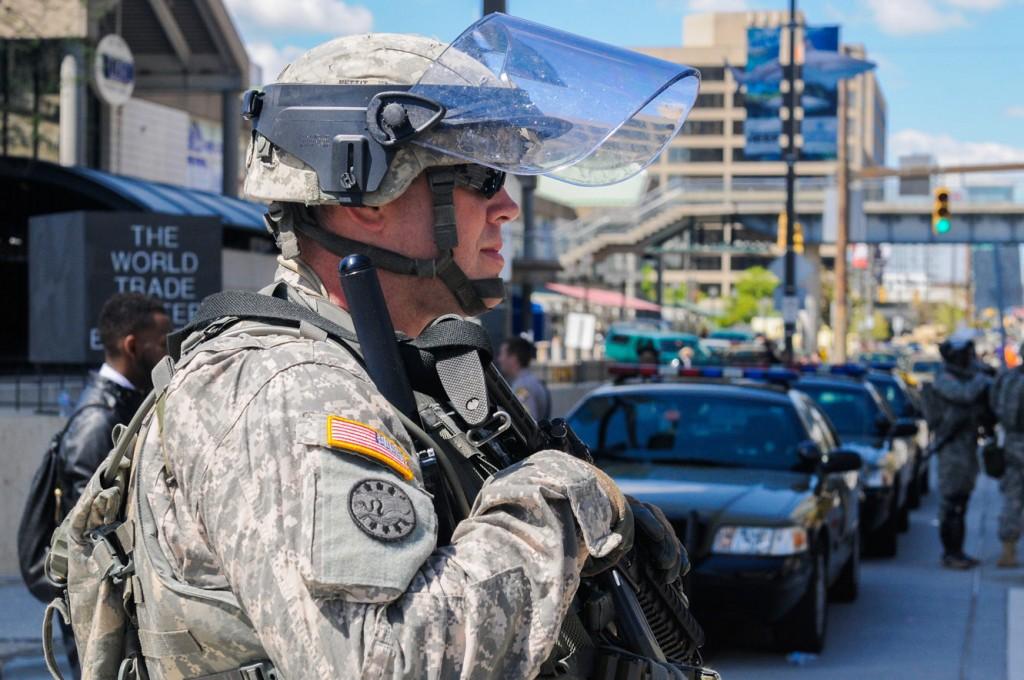 #BaltimoreRiots, Riots, Freddie Gray,  #BlackLivesMatter, Maryland National Guard