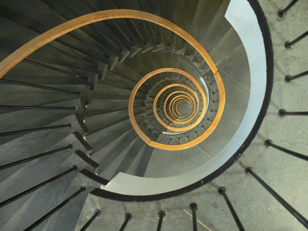 spiral stairs, finding photographic passion, creative passion