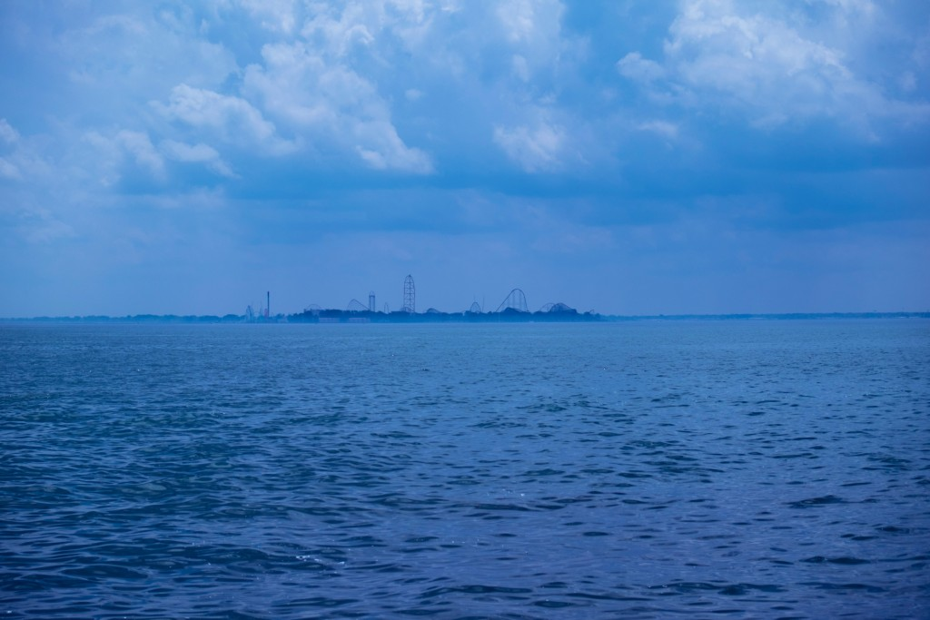 cedar point, blue horizon, amusement park, great lake, lake erie, ohio, blue sky