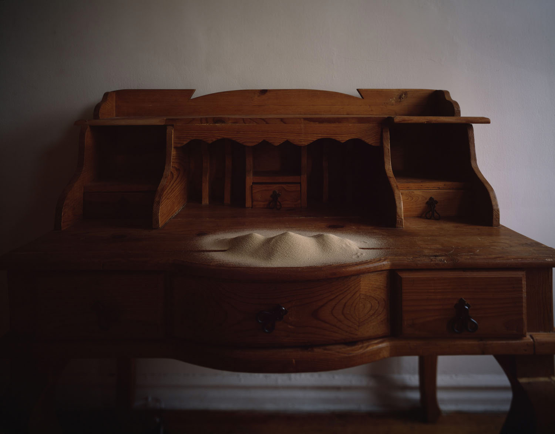 The Judean Mountains, desk, sand, abstract sand miniature, Yoav Friedlander,