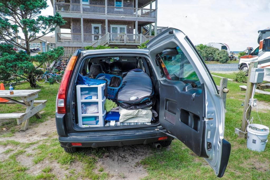 Atlas, on the road, car-v, north carolina, outer banks, camping