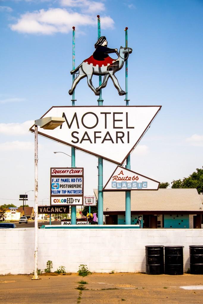 motel safari, route 66, new mexico, americana, old sign, tucumcari