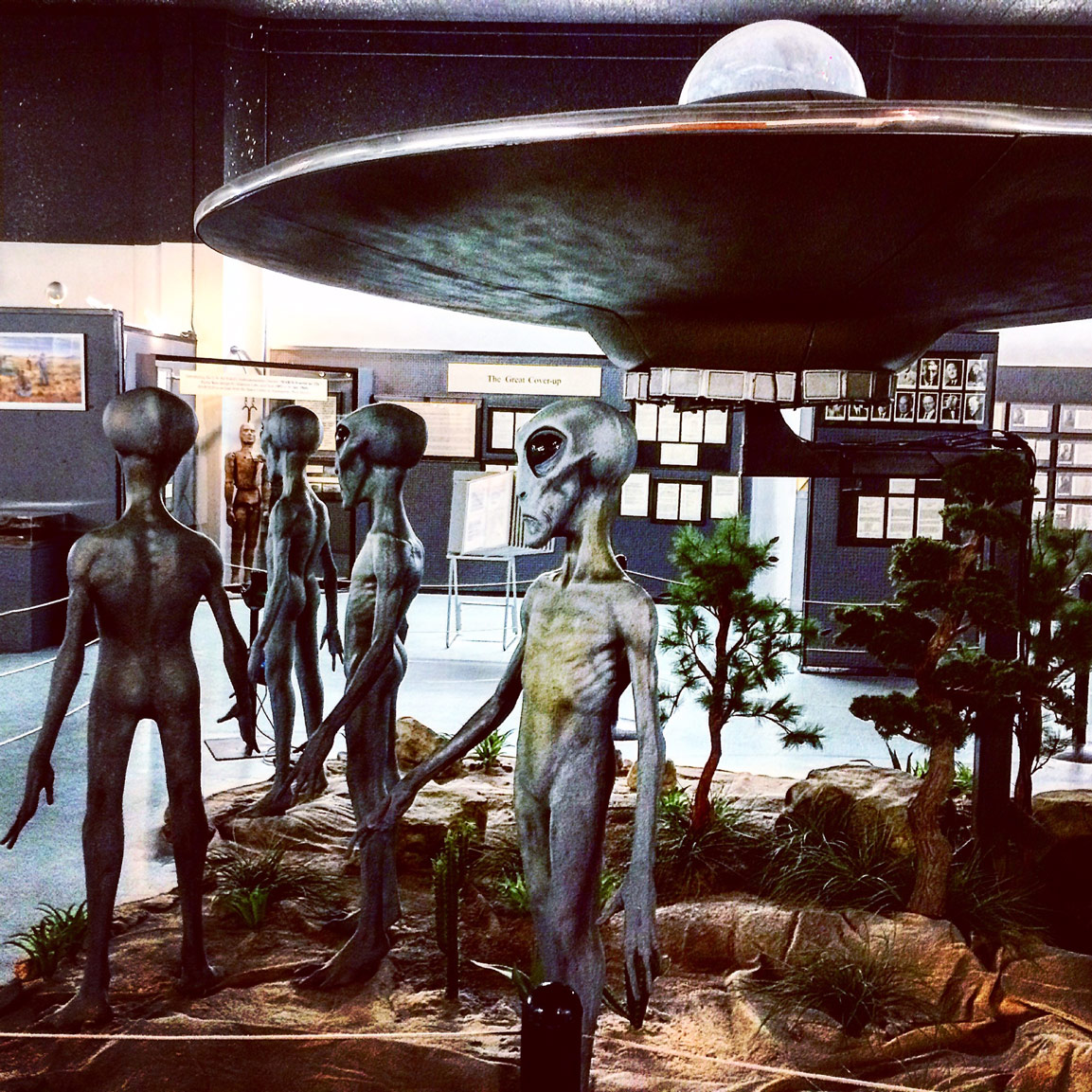 roswell, new mexico, ufo crash site, 1947, conspiracy, government cover up, area 51, aliens, extraterrestrials, International UFO Museum And Research Center