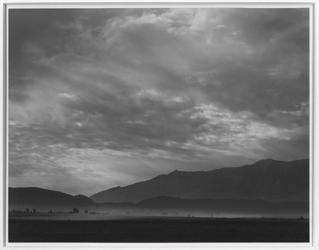 manzanar, relocation center, dust storm, ansel adams, japanese internment camp