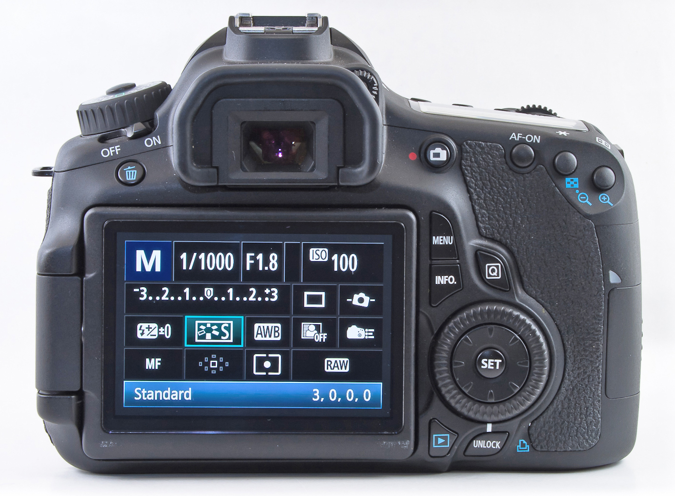 Gear Acquisition Syndrome, image menu of Canon DSLR, camera settings, too much gear