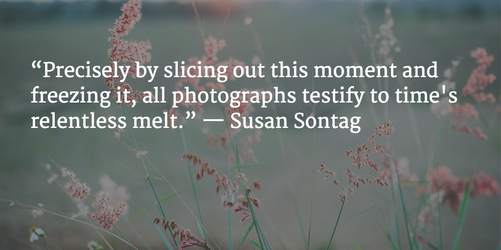 Susan Sontag,  Inspirational Photography Quotes, text overlay