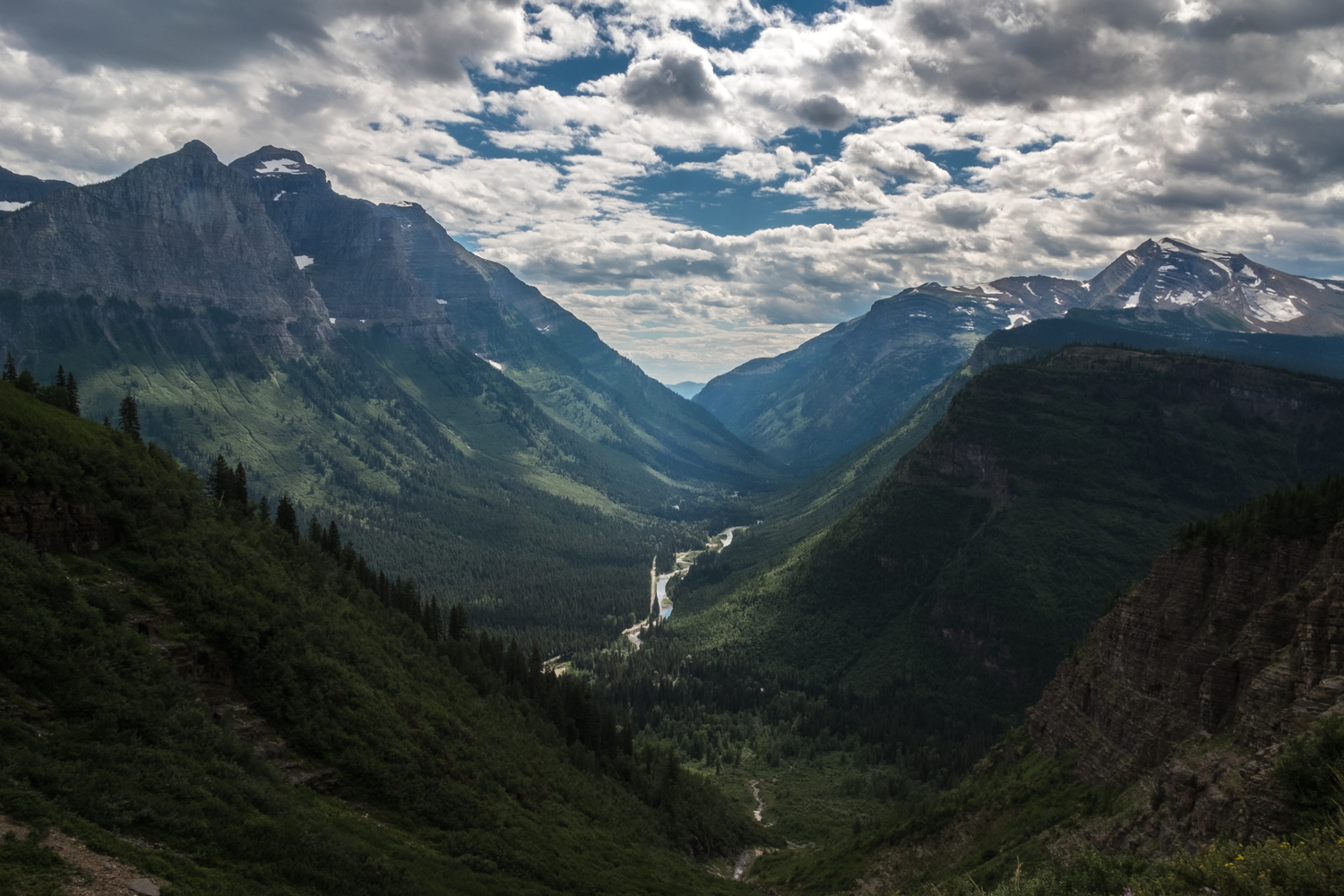 Glacier National, Glacier National Park, Montana, Going-to-the-Sun Road, Fujifilm X-E2, canada, glacier-carved valley, snow-peaked mountains, national park, landscape photograph, through the iris,
