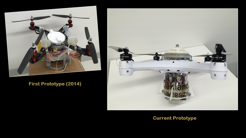 Loon Copter, underwater drone, Oakland University Researchers, DJI, gizmag, drone, prototype, Embedded Systems Research Laboratory,