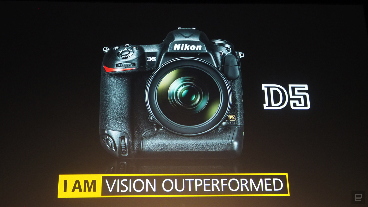 Nikon D5, DSLR, CES 2016, product shot