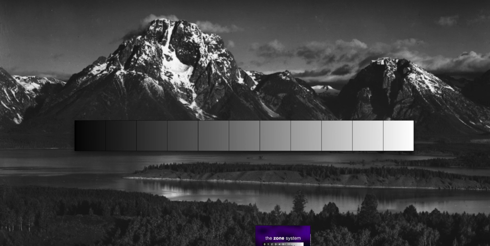 Ansel, Ansel Adams, zone system, visualization